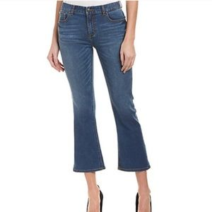 NWT EVIDNT Los Angeles Solana Cropped Flare Jeans